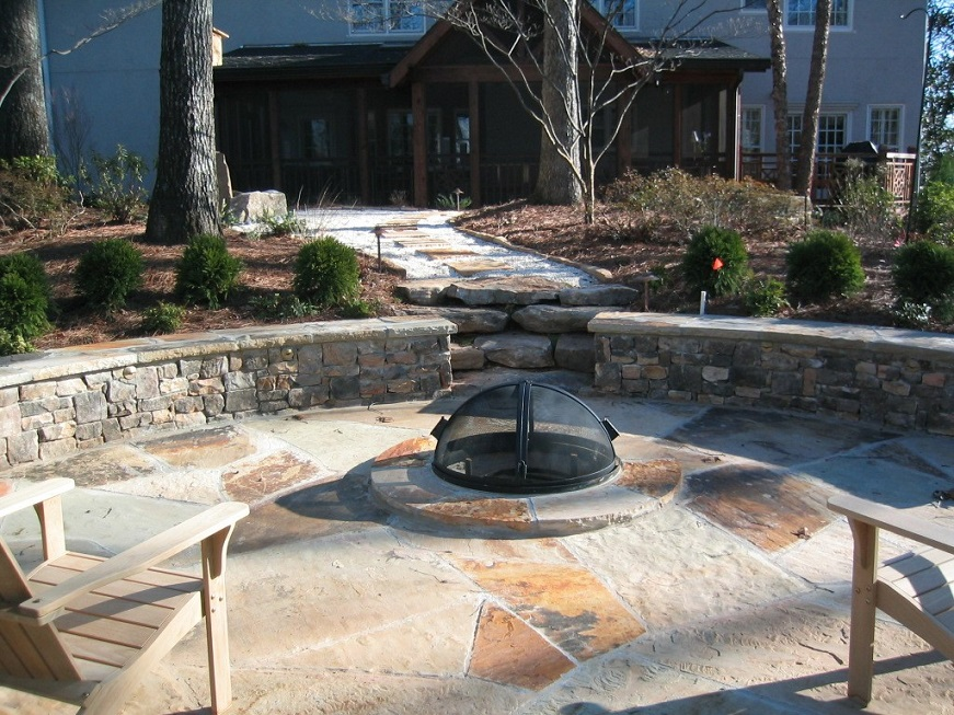 Crab Orchard Patio & Fireplace